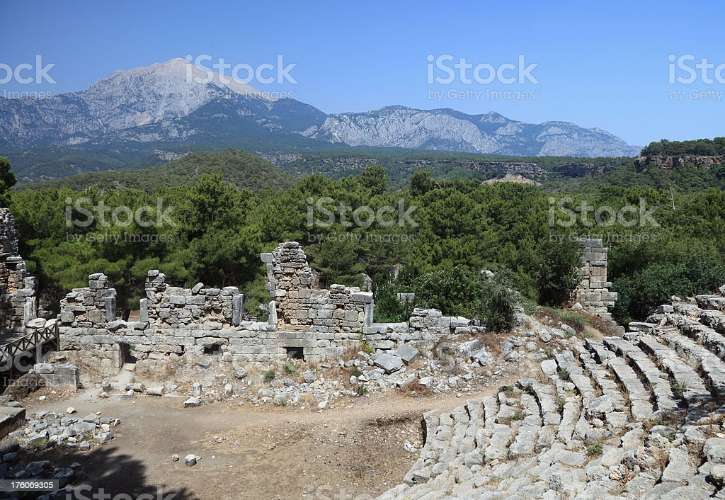 Mt. Olympus and Taurus range royalty-free stock photo