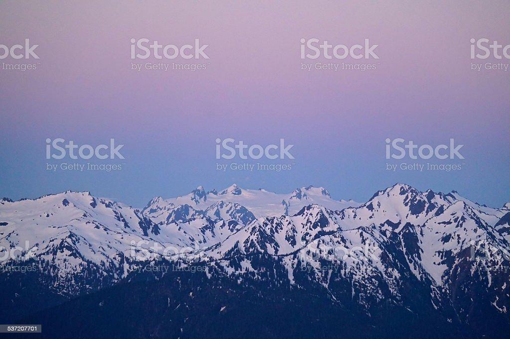 Mt. Olympus Dawn stock photo