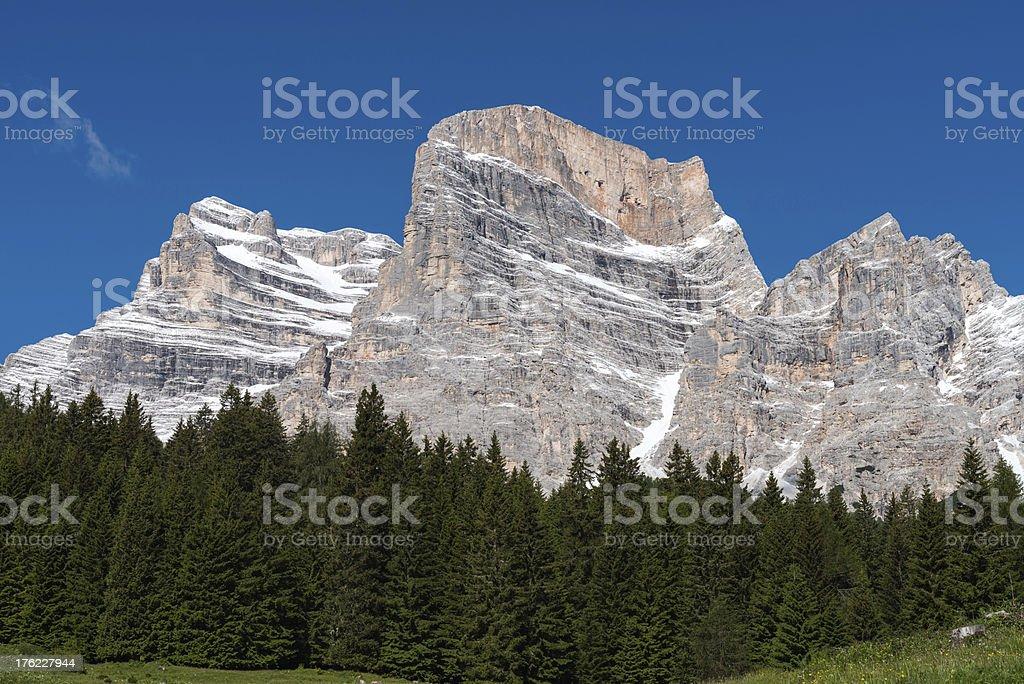 Mt Pelmo - The Throne of God stock photo