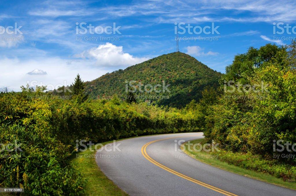 Mt. Pisgah & the BRP stock photo