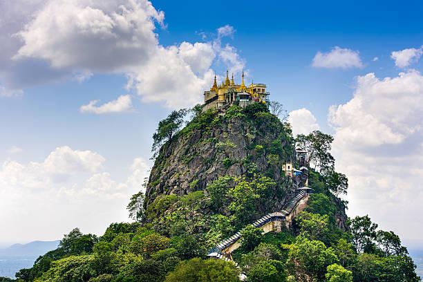 Mt. Popa, Myanmar Mt. Popa, Mandalay Division, Myanmar. myanmar stock pictures, royalty-free photos & images