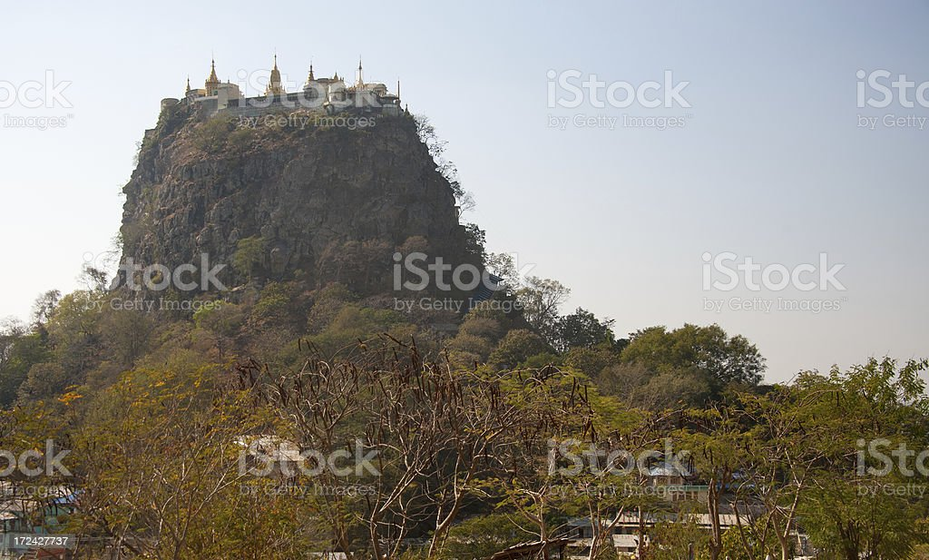 Mt Popa royalty-free stock photo