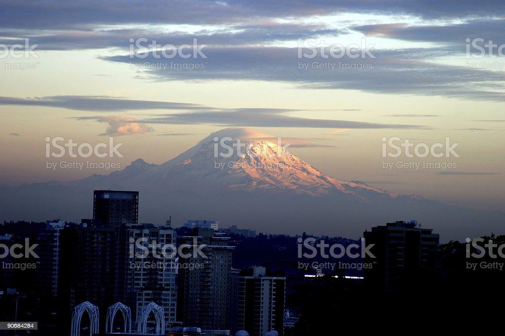 Mt Raineer stock photo