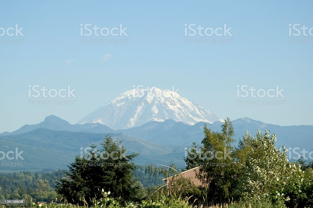 Mt Rainer royalty-free stock photo