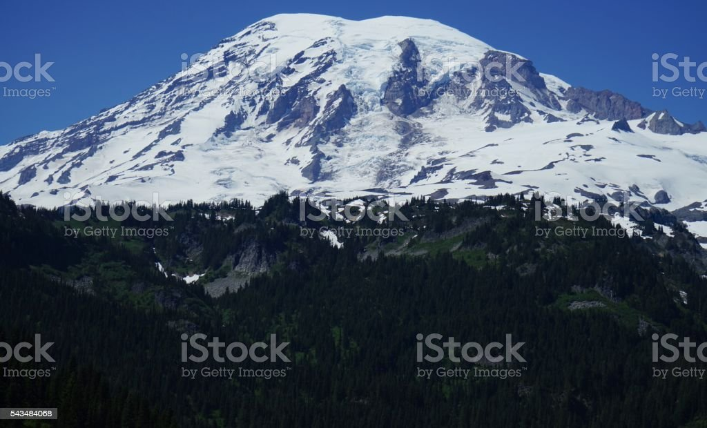 Mt. Rainier Ice stock photo