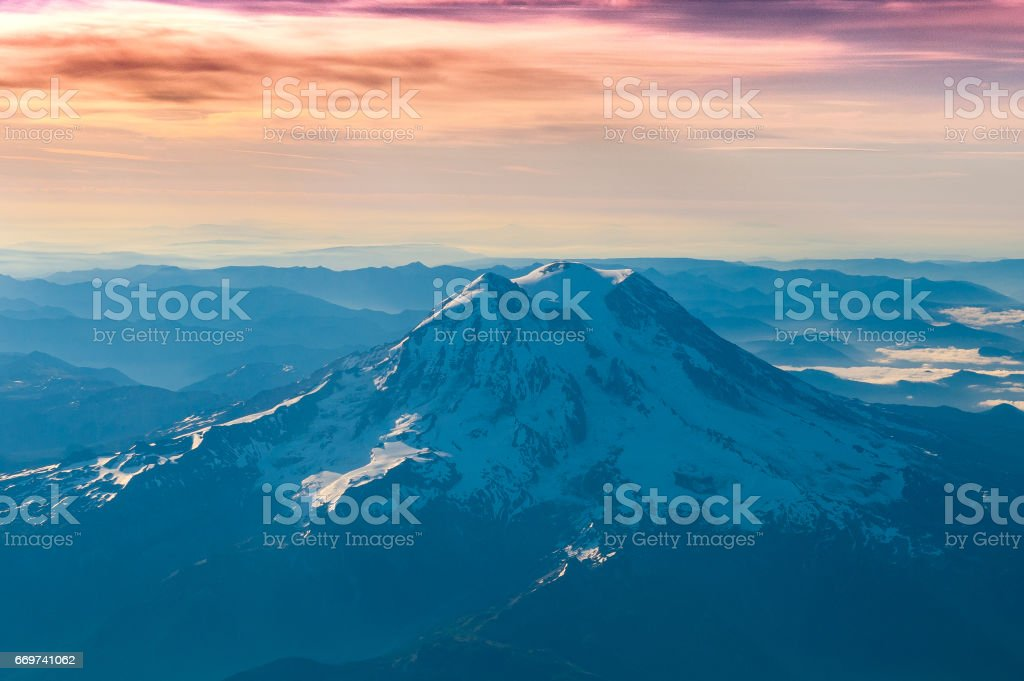 Mt Rainier stock photo