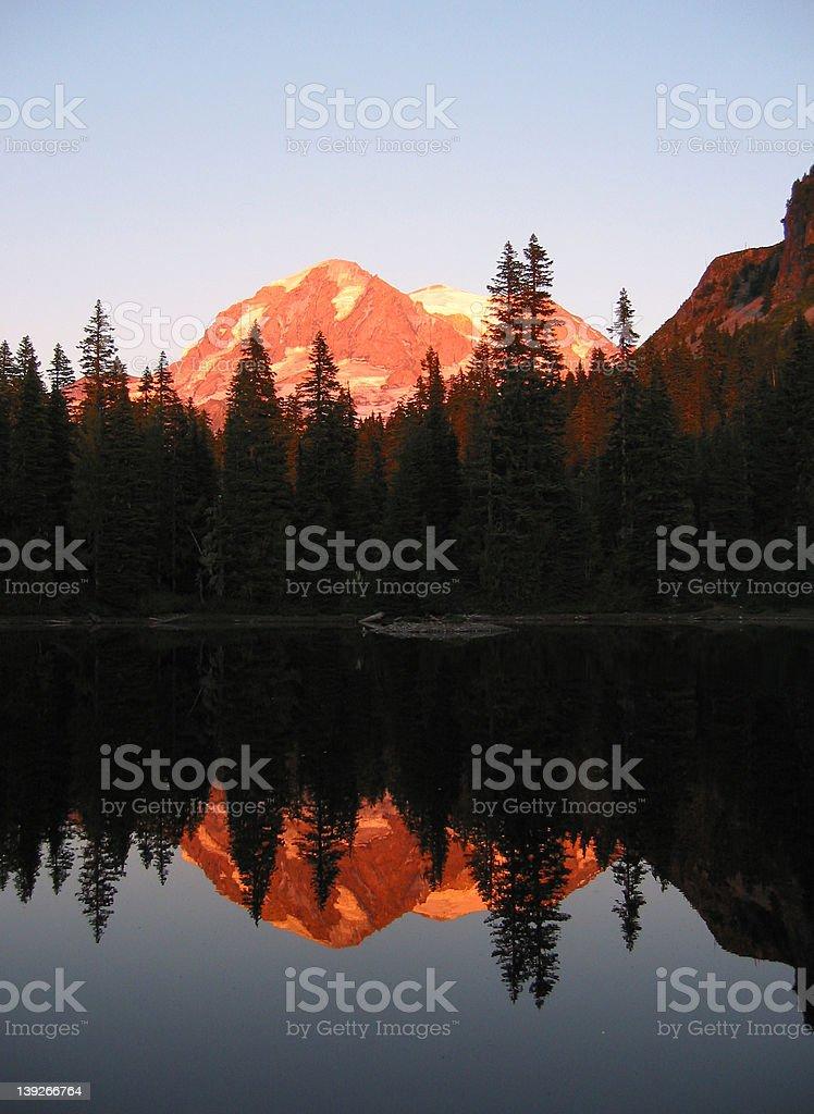 Mt. Rainier Reflected royalty-free stock photo