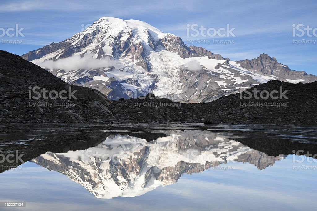 Mt. Rainier Reflection royalty-free stock photo