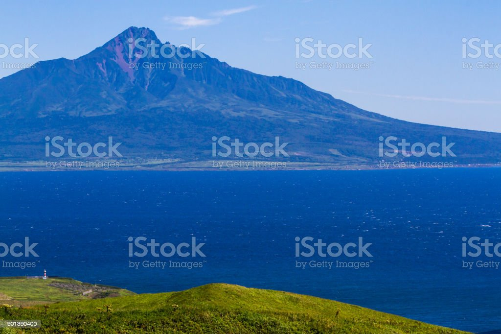 Mt. Rishiri from the North stock photo