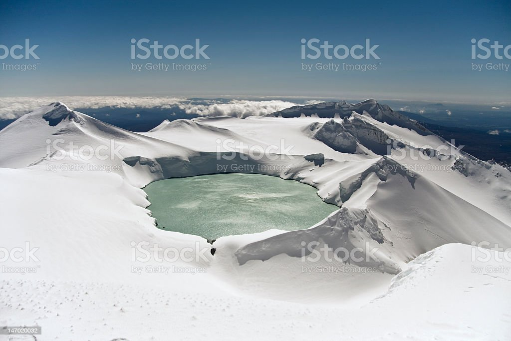 Mt Ruapehu Crater Lake stock photo