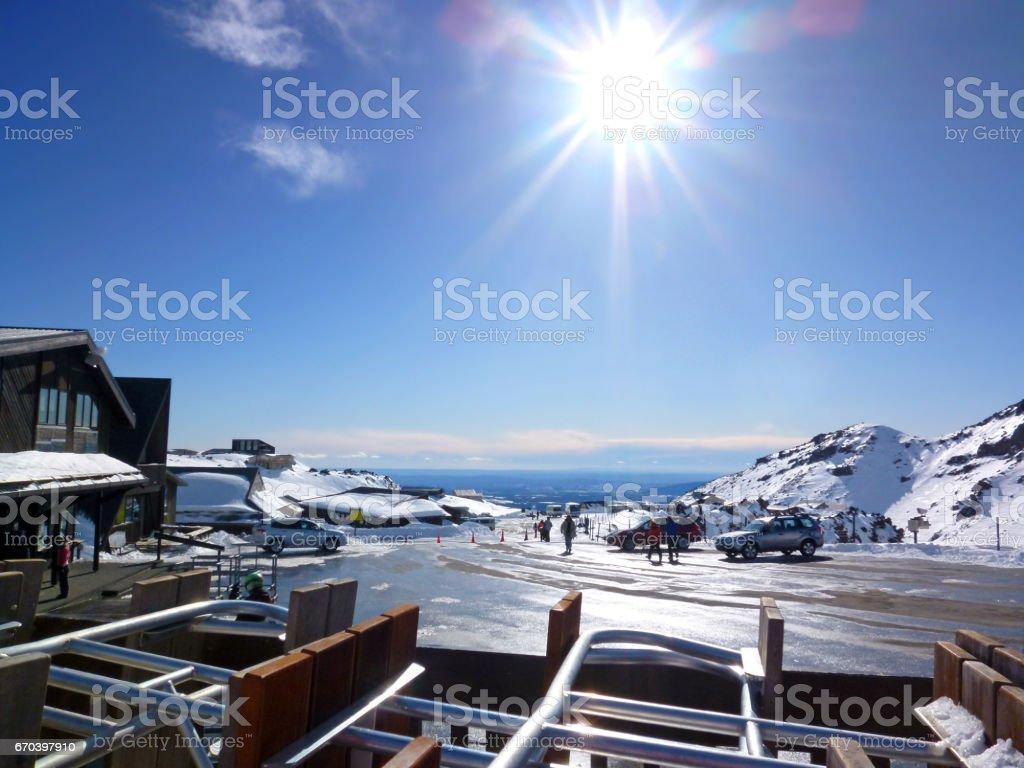 Mt Ruapehu Ski Fields New Zealand stock photo