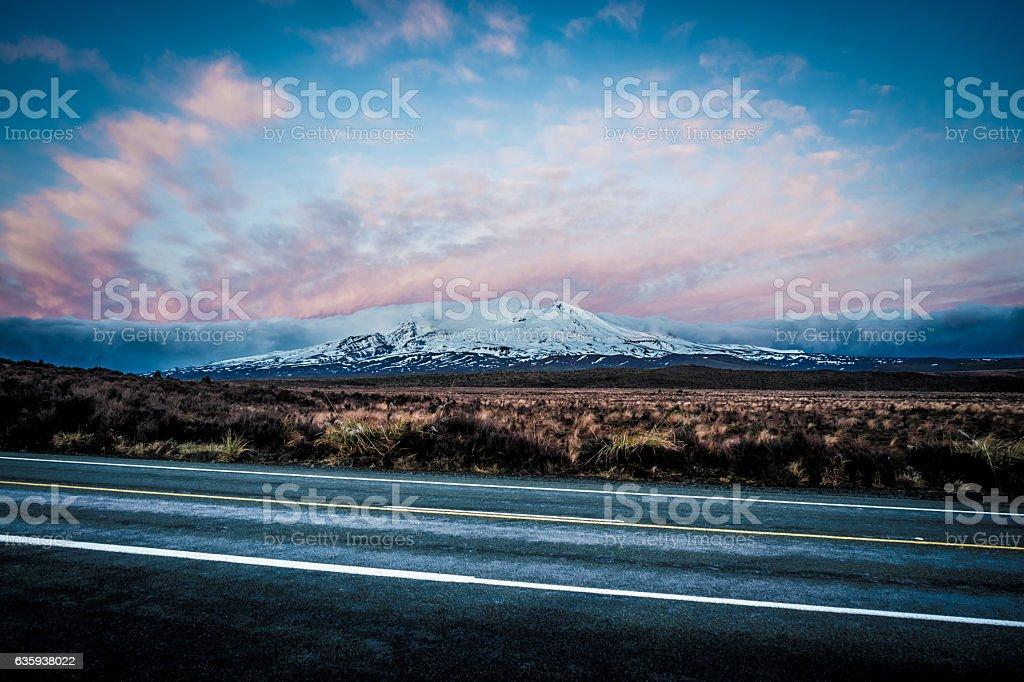 Mt Ruapehu Sunrise stock photo
