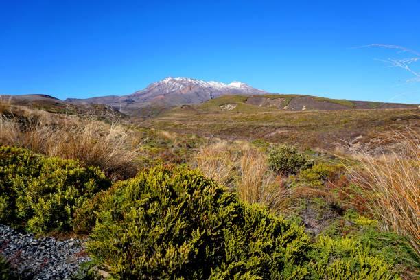 Mt Ruapehu, Tongariro National Park, New Zealand stock photo