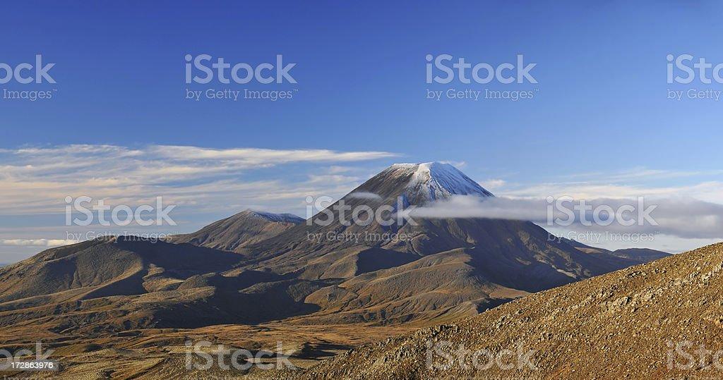 Mt. Ruapehu volcano, New Zealand stock photo