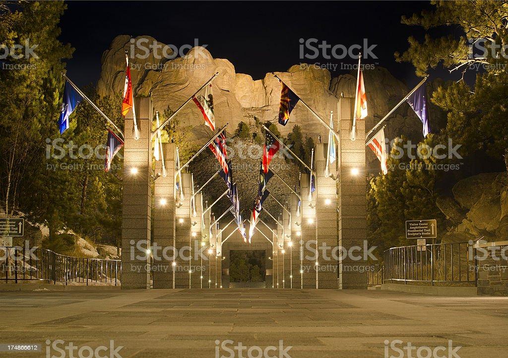Mt Rushmore Entrance stock photo
