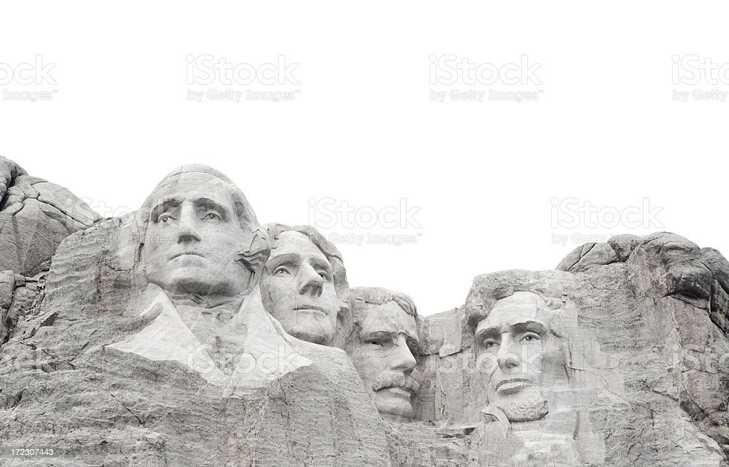 Mt. Rushmore National Monument Frame Border, Presidents Black Hills Memorial stock photo