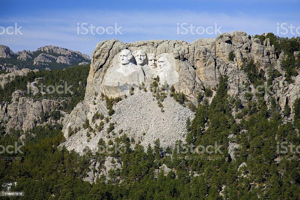 Monumento nacional del monte Rushmore foto de stock libre de derechos