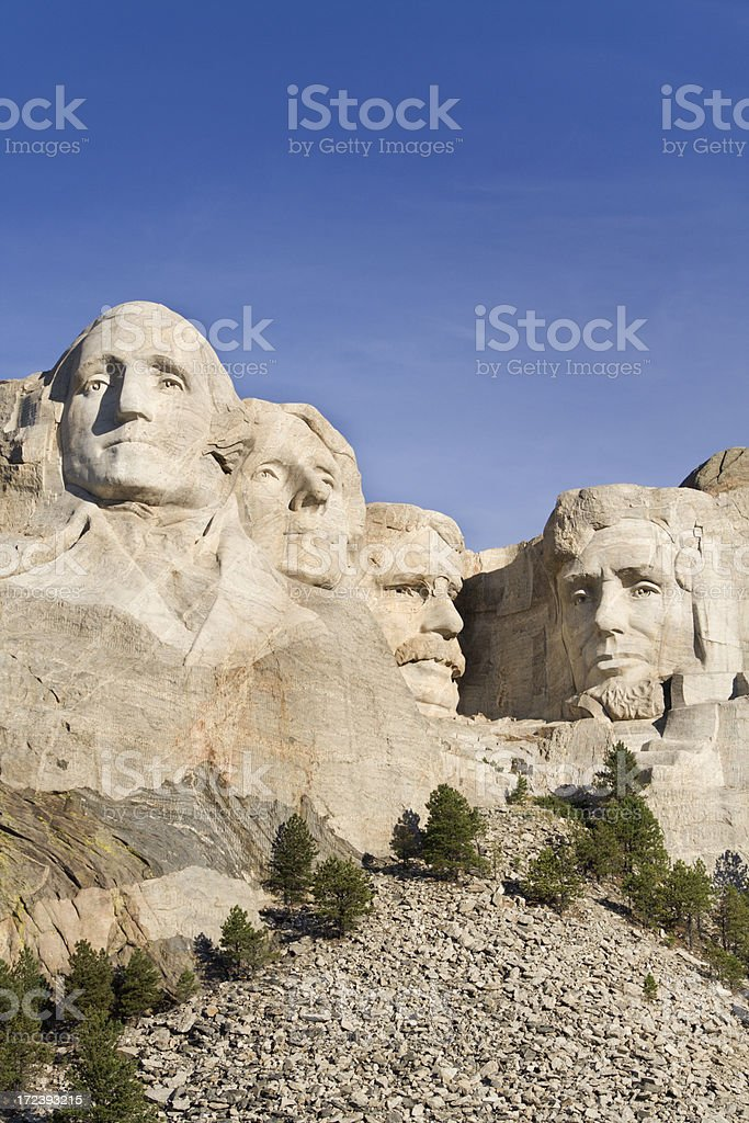 Mt Rushmore National Monument, Presidents Carved in Black Hills Mountain royalty-free stock photo