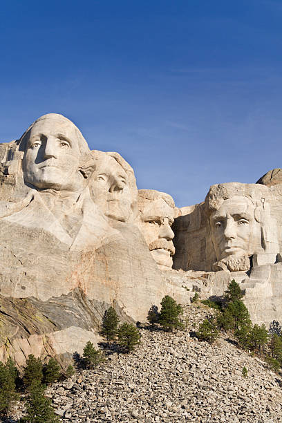 Mt Rushmore National Monument, Presidents Carved in Black Hills Mountain stock photo