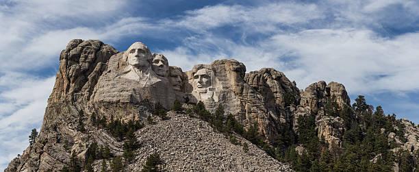 Mt Rushmore Panorama stock photo