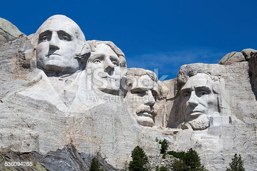 George Washington, Thomas Jefferson, Theodore Roosevelt, Abraham Lincoln, Mt. Rushmore, President, Sculpture, Landmark, South Dakota