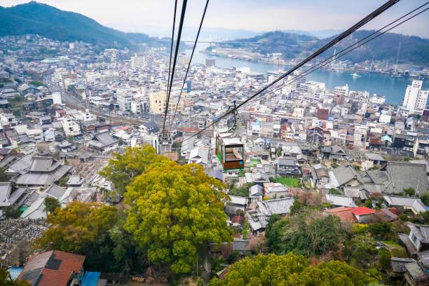 Mt. Senkoji Seilbahn in Onomichi Stadt Hiroshima. (Japan) – Foto
