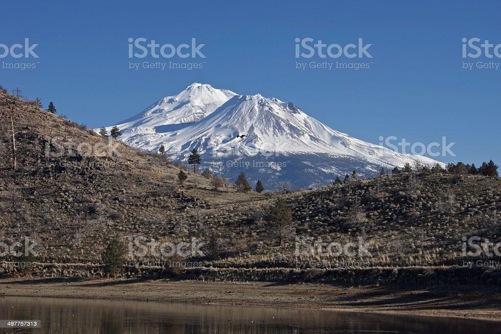 Mt. Shasta Blackhawk stock photo
