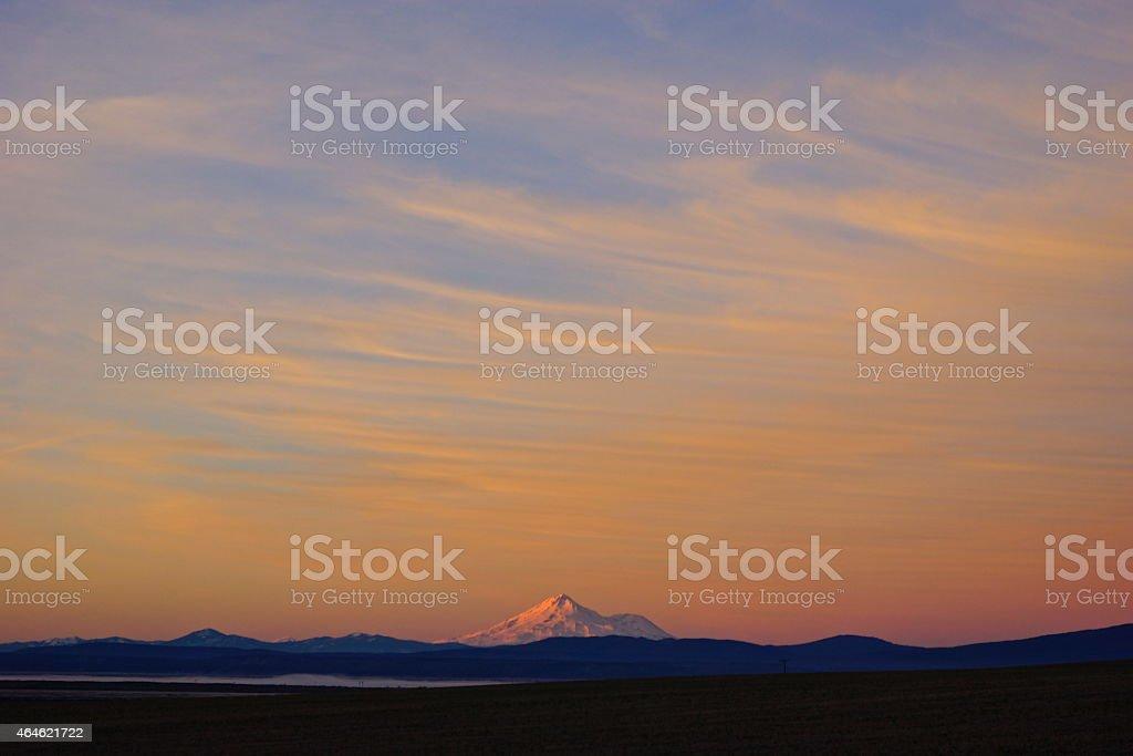 Mt. Shasta Dawn stock photo