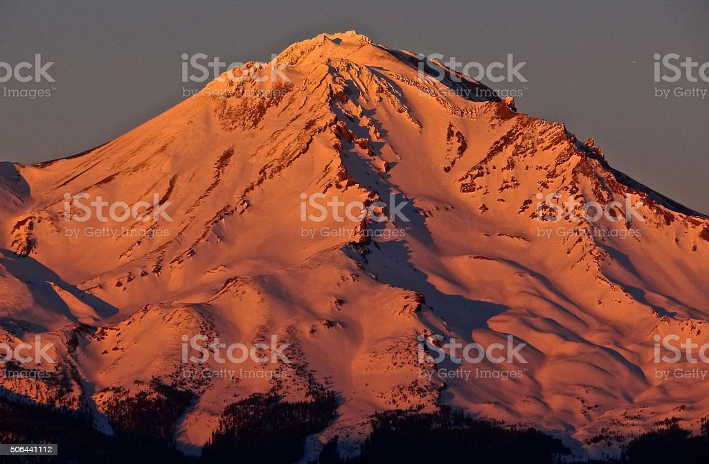 Mt. Shasta Fire stock photo