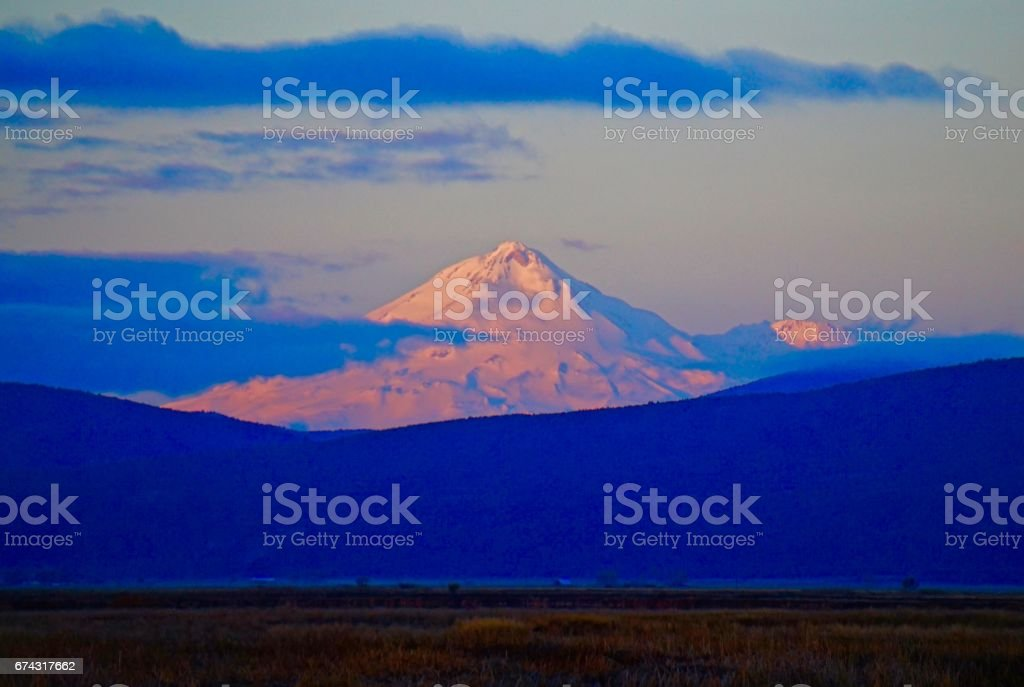 Mt. Shasta Glow stock photo