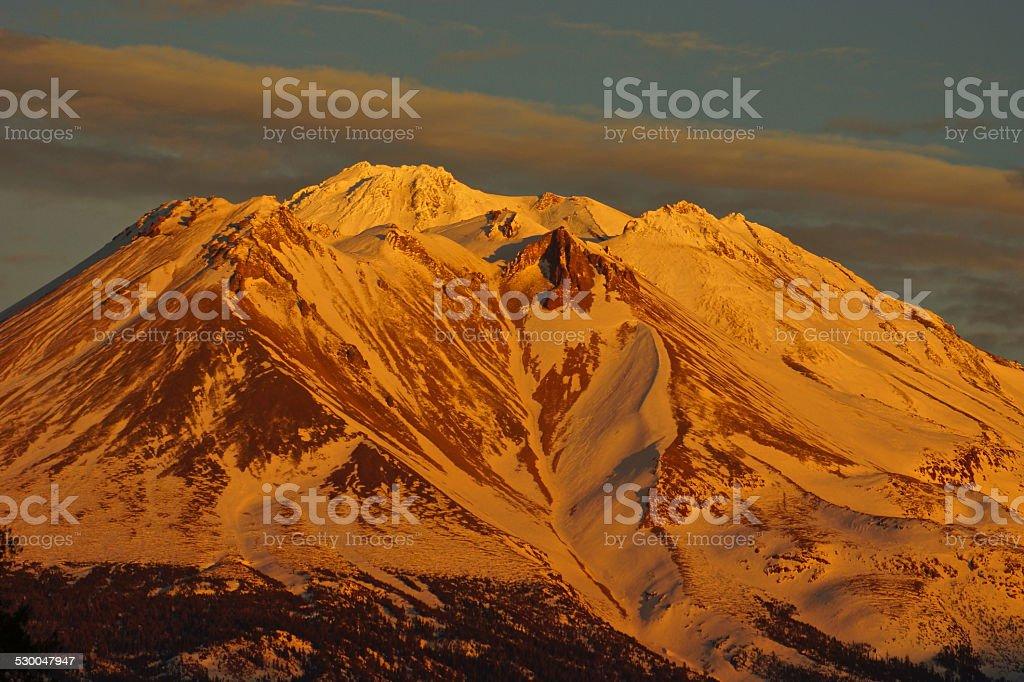Mt. Shasta Gold stock photo