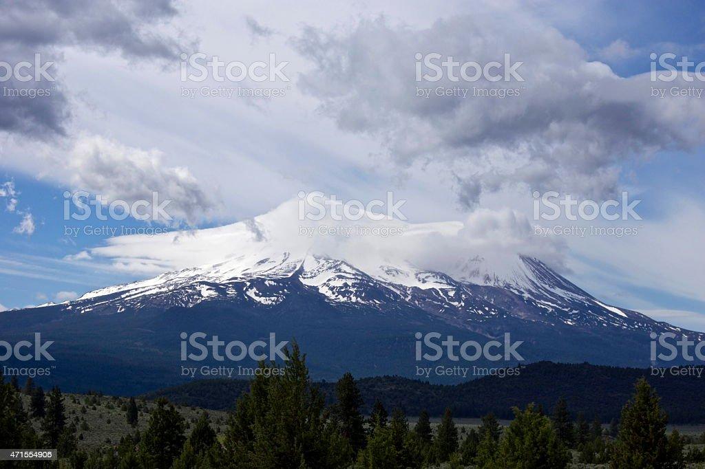 Mt. Shasta High Mystic stock photo