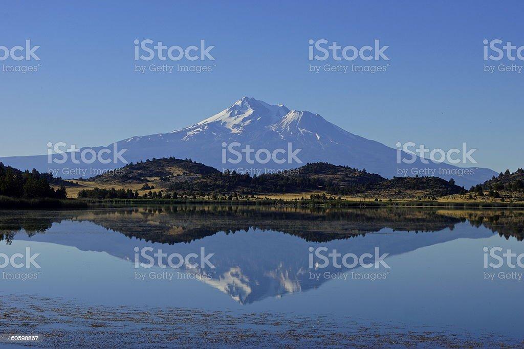 Mt. Shasta Ice Mirror stock photo