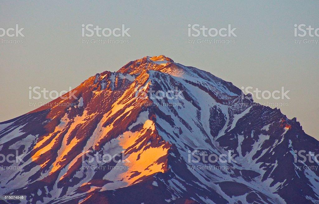 Mt. Shasta Light stock photo