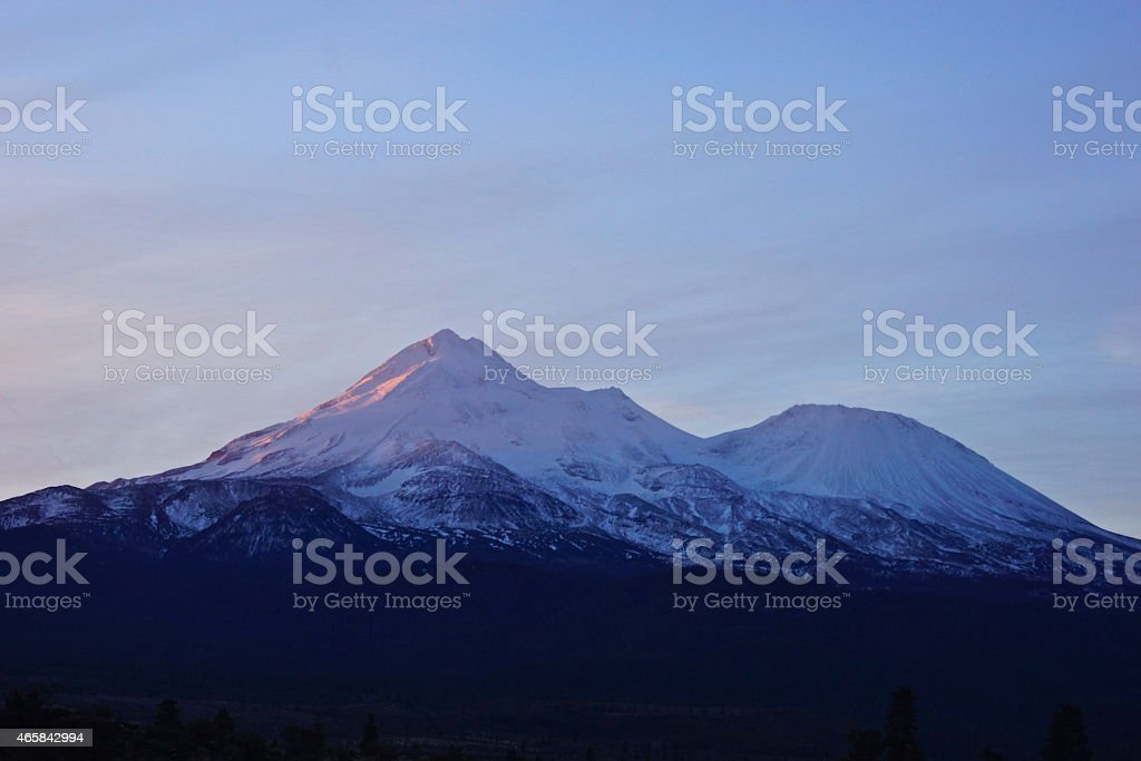 Mt. Shasta Majestic stock photo