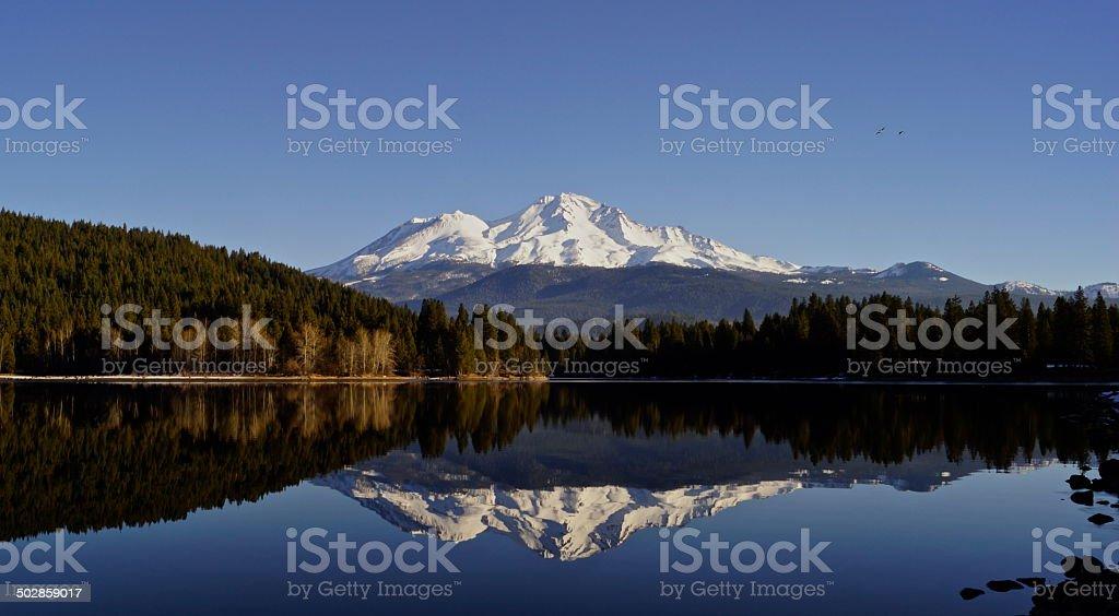 Mt. Shasta Mirror stock photo