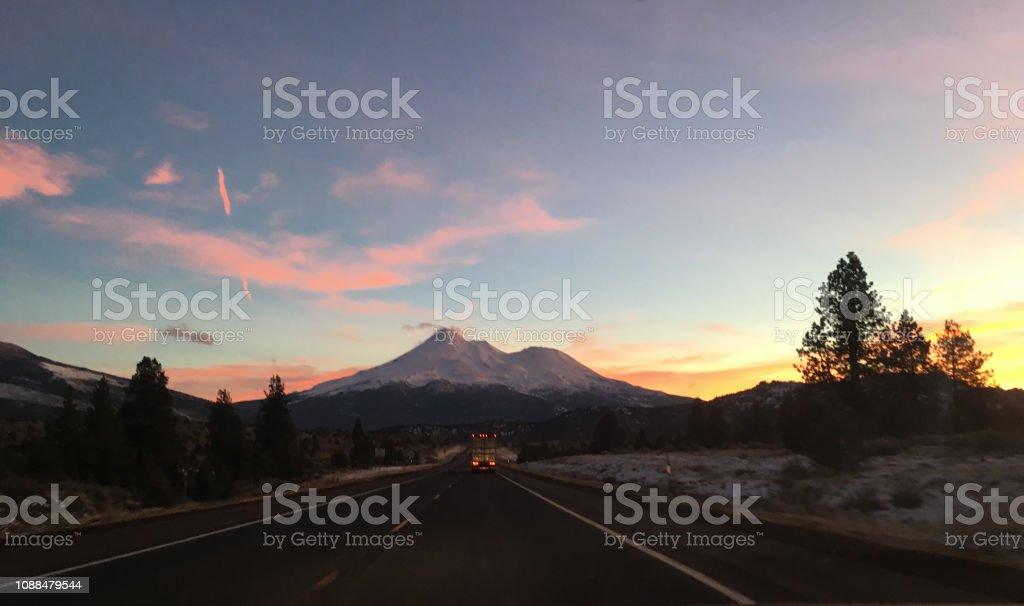 Mt. Shasta panorama stock photo