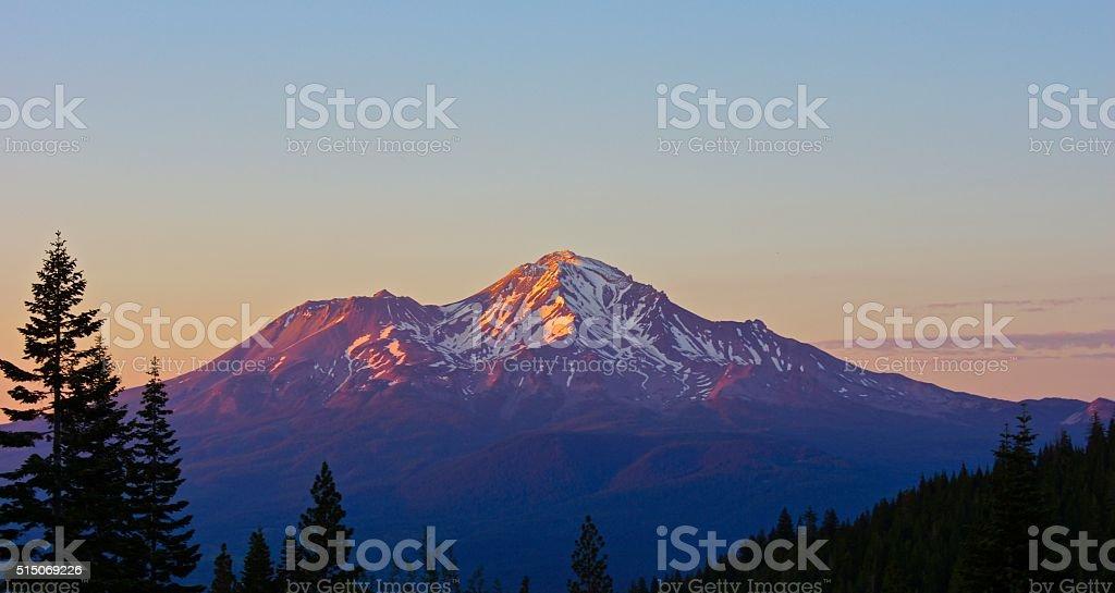 Mt. Shasta Purple stock photo