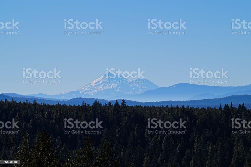 Mt. Shasta Rare View stock photo