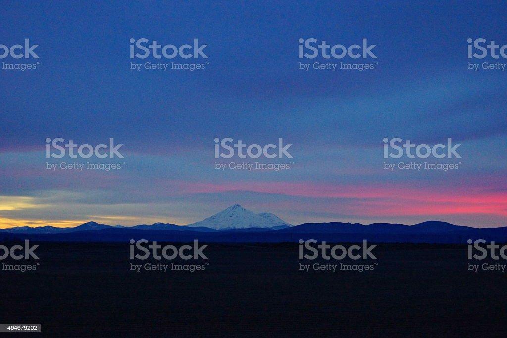 Mt. Shasta Sky Colors stock photo
