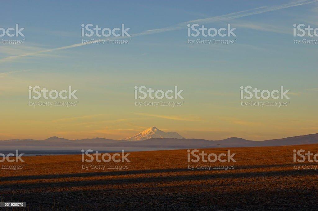 Mt. Shasta Sunrise stock photo