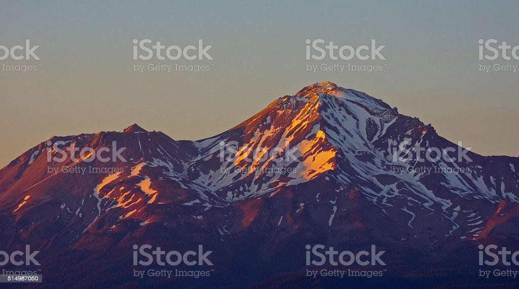 Mt. Shasta Sunset stock photo