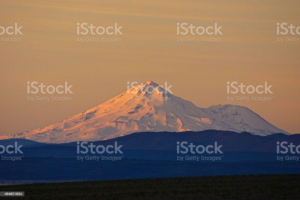 Mt. Shasta Zoom stock photo