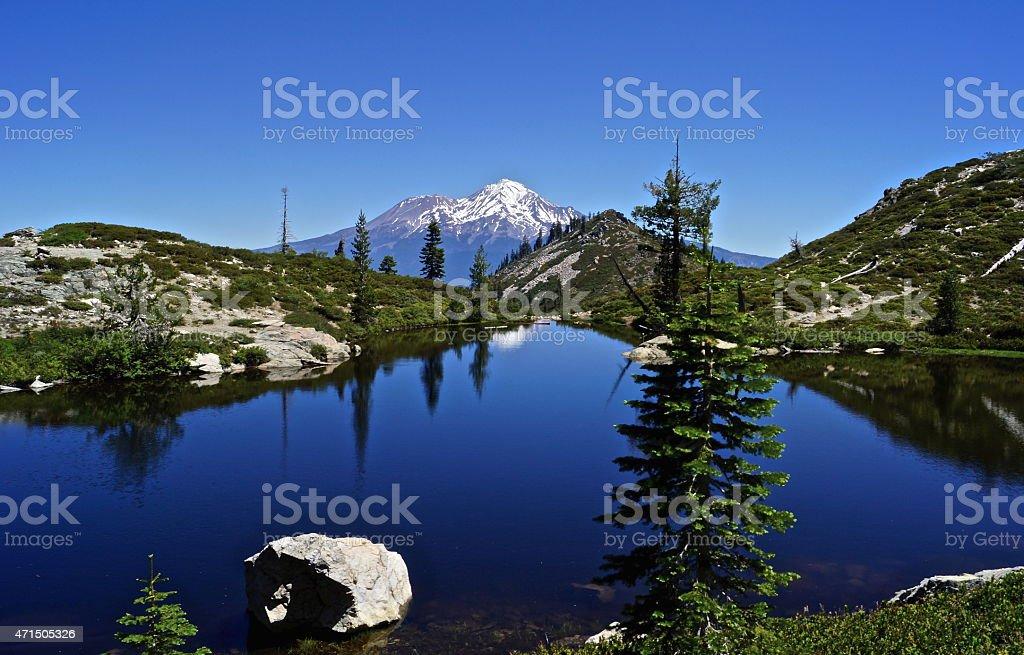 Mt. Shasta's Heart Lake stock photo