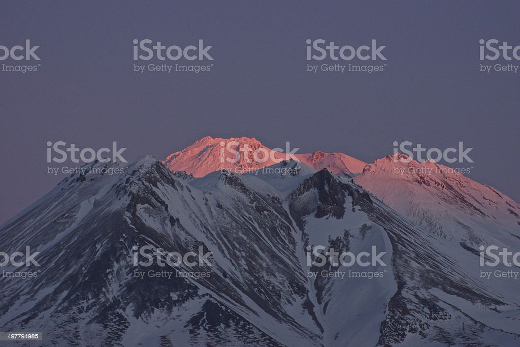 Mt. Shasta's Higher Glow stock photo