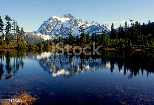 Mt. Shuksan and Picture Lake in North Cascades National Park