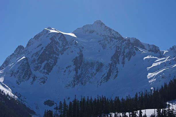 Monte Shuksan gelo azul - foto de acervo