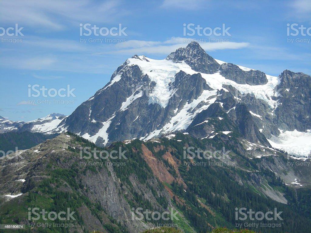 Mt. Shuksan Glacier from Tabletop Mountain stock photo
