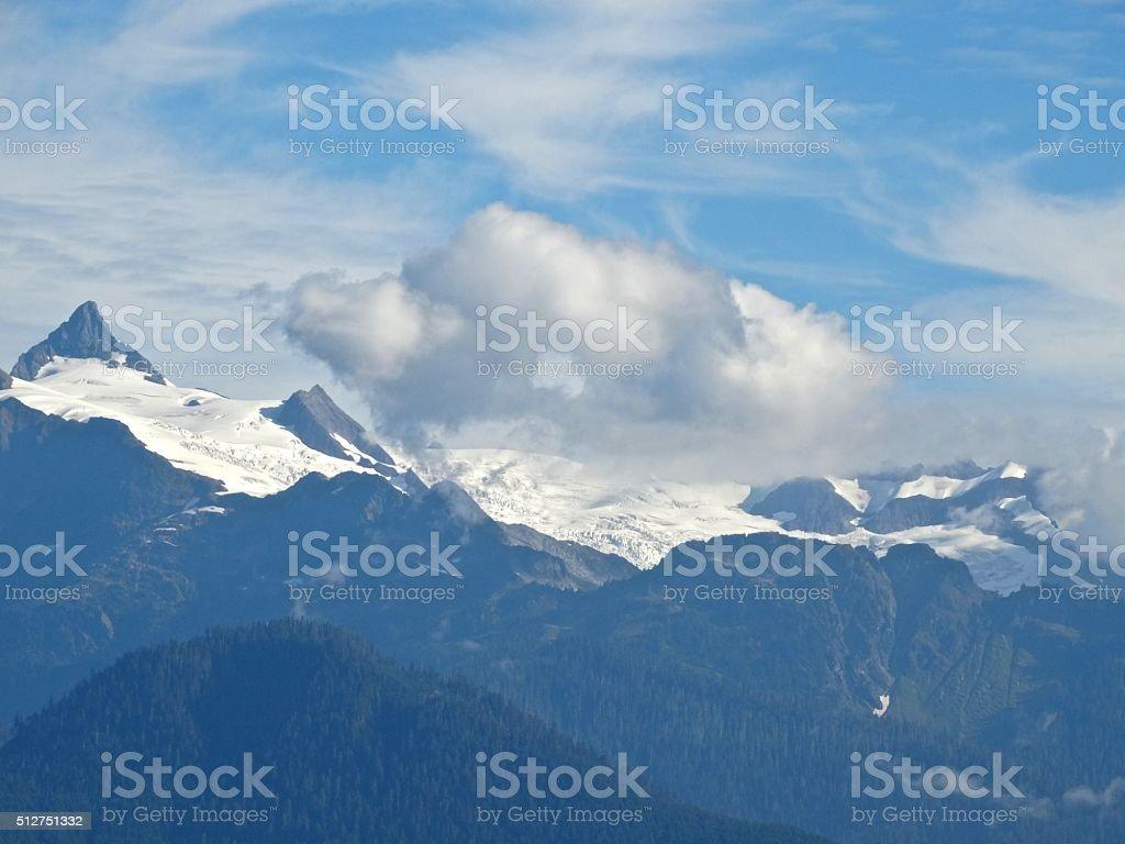 Mt. Shuksan Glacier stock photo