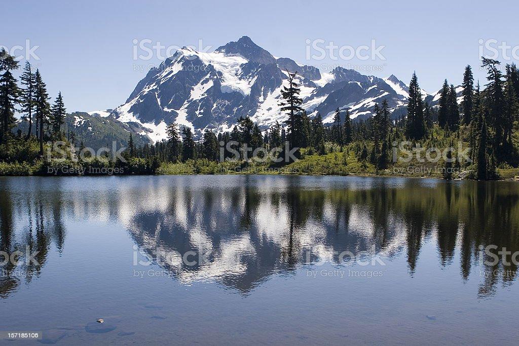 Mt Shuksan in summer stock photo